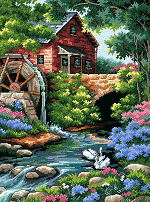 Dimensions Needlepoint Kit - Old Mill Cottage