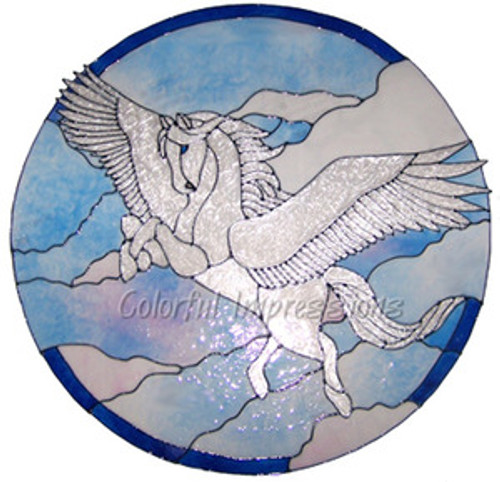 Pegasus Faux Stained Glass Window Film