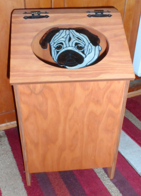 Pet Food Storage Bin - Pug