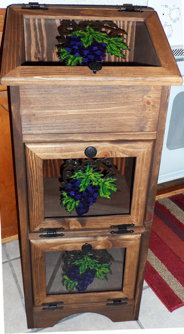 Potato & Onion Vegetable Storage Bin - Grapes
