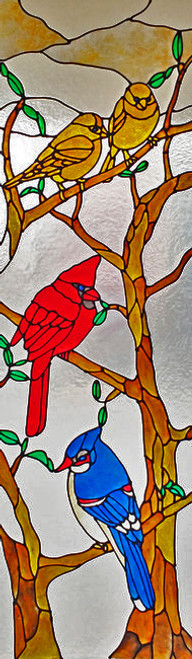 Birds In Tree Sidelight Window Film