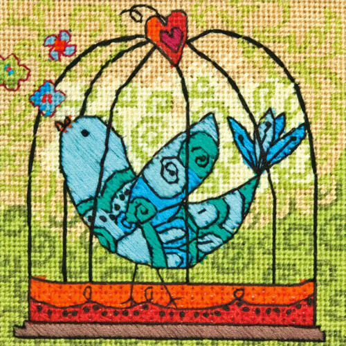 Dimensions Needlepoint Kit - Birdie Stitched In Thread