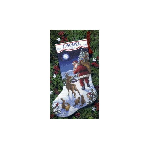 Dimensions Counted Cross Stitch Kit - Santa's Arrival Stocking