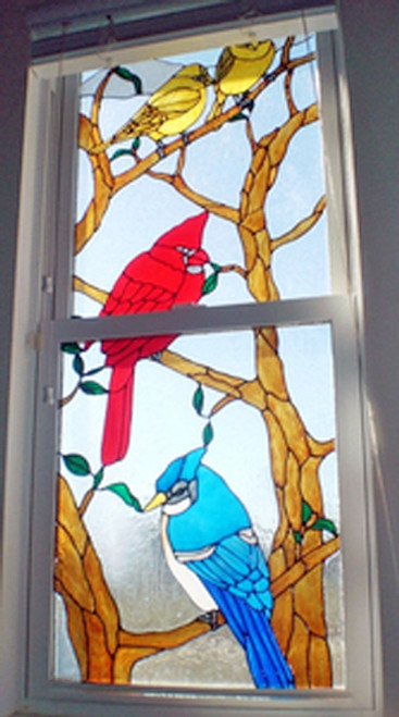 Birds In A Tree Custom Window Film Set
