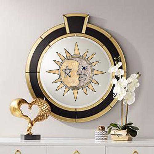 Silver & Gold Sun & Moon Window Cling