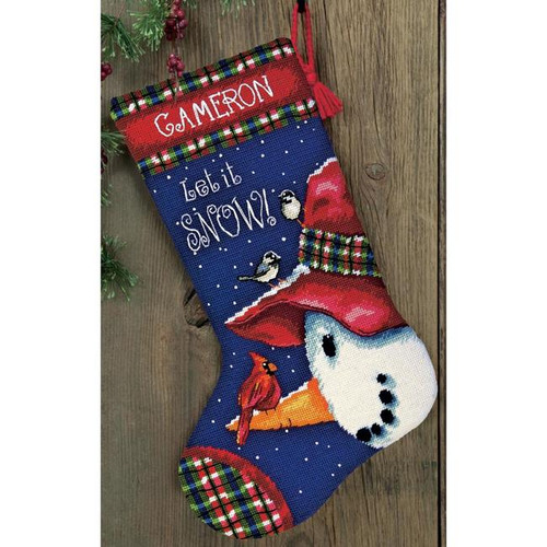 Dimensions Needlepoint Stocking Kit - Snowman Perch