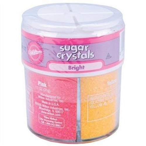Wilton Sugar Crystals 1.1oz. 4Pkg - Bright