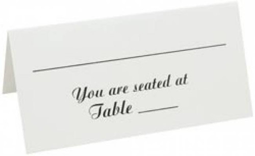 Table Seating Cards 50 Pkg.