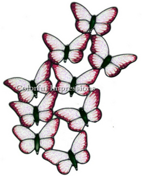 Butterflies Faux Stained Glass Window Cling