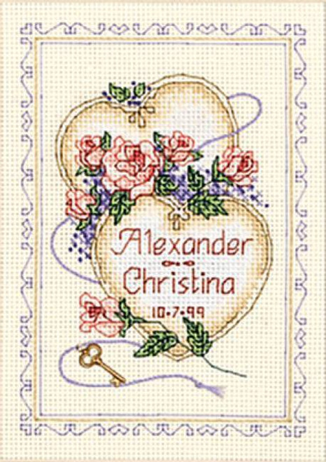 Dimensions Counted Cross Stitch Kit - United Hearts Record