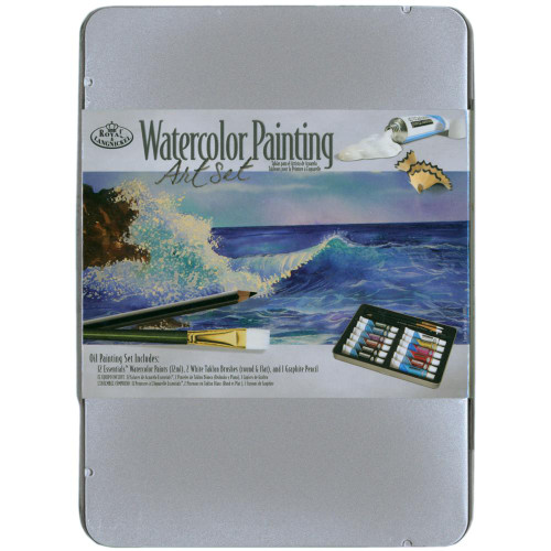 Watercolor Paint Art Kit With Tin