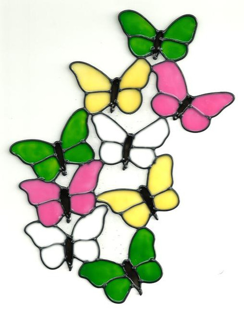 Butterflies Window Cling - Pastels