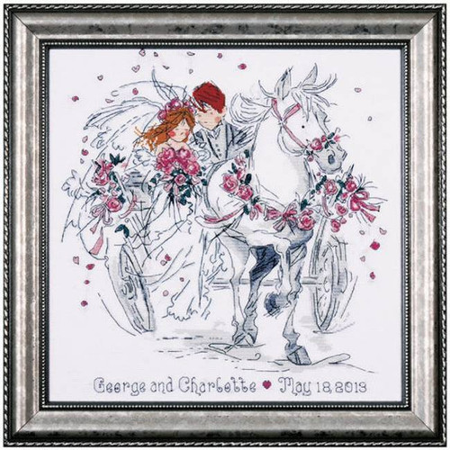 Design Works Counted Cross Stitch Kit - Wedding Carriage