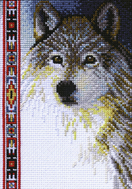 Janlynn Counted Cross Stitch Kit - Wildlife Wolf