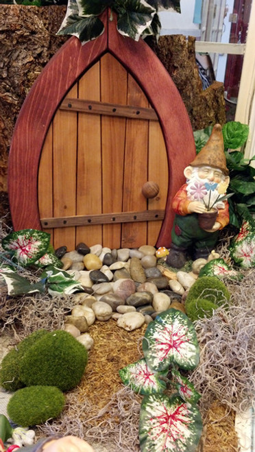 Wooden Fairy / Gnome Door - Closed (Small)