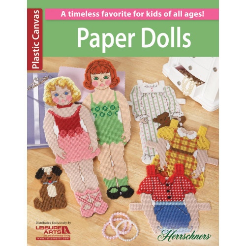 Leisure Arts Plastic Canvas Paper Dolls Pattern Book