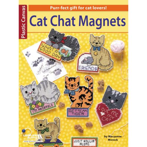 Plastic Canvas Cat Chat Magnets