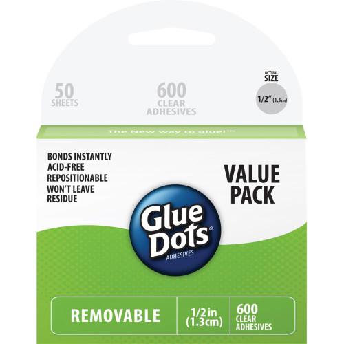 "Glue Dots .5"" Removable Dot Sheets Value Pack"