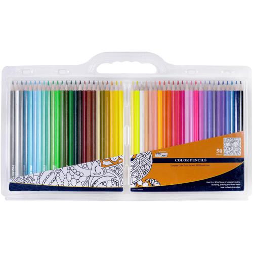 Pro Art Color Pencil Set Clam Pack 50pc