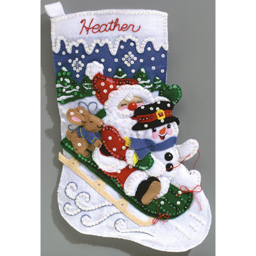 Christmas Fun Stocking Felt Applique Kit