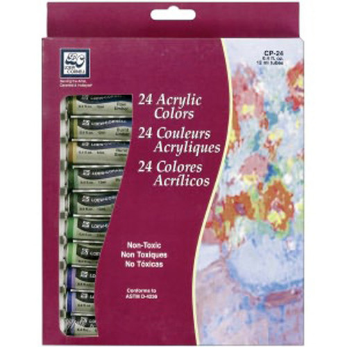Loew Cornell Acrylic Paints 12ml 24/Pkg - Assorted