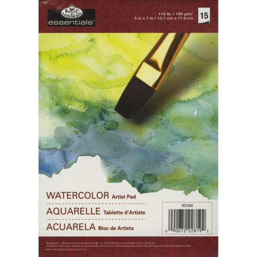 "essentials™ Watercolor Artist Paper Pad 5""X7"""