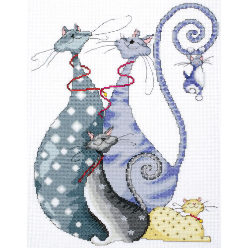 Cat Pack Counted Cross Stitch Kit