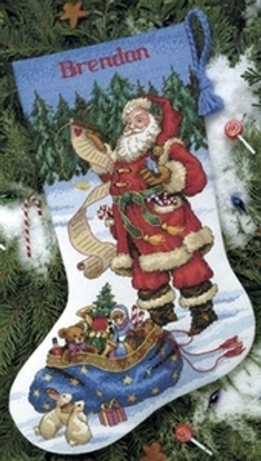 Dimensions Counted Cross Stitch Kit - Checking His List Stocking