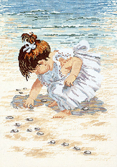 Janlynn Counted Cross Stitch Kit - Collecting Shells
