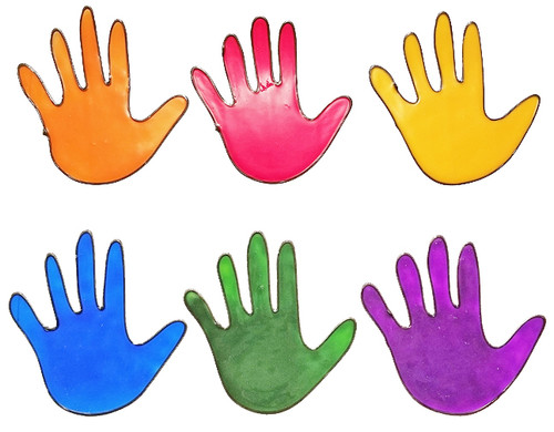Colorful Hands Window Cling Set