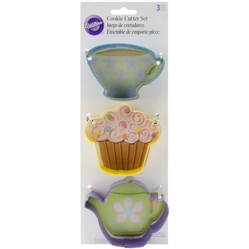 Wilton Cookie Cutters 3/Pkg - Tea Party