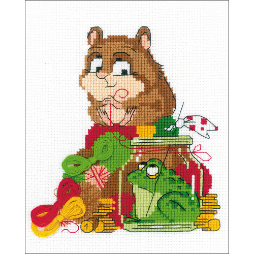 RIOLIS Counted Cross Stitch Kit - Hamster & Toad
