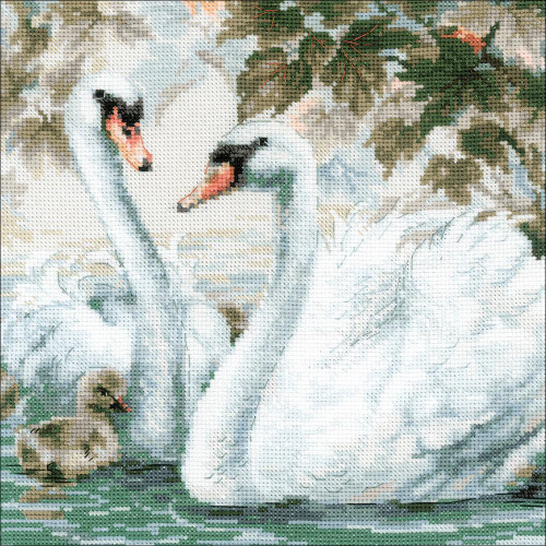 White Swans Counted Cross Stitch Kit