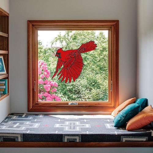 Cardinal Landing Window Cling