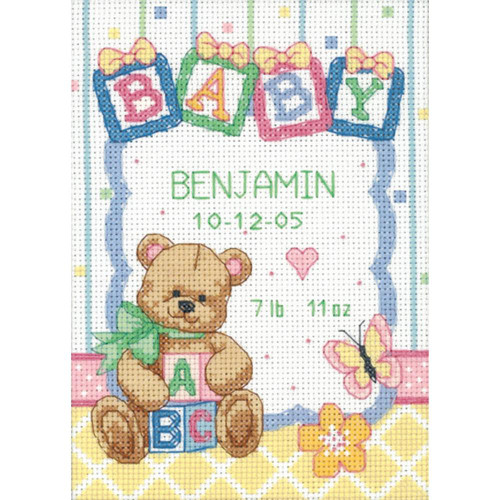 Dimensions Counted Cross Stitch Kit - Baby Blocks Birth Record