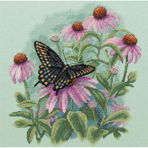 Dimensions Counted Cross Stitch Kit - Butterfly & Daisies