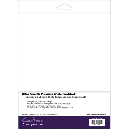 "Spectrum Noir Ultra Smooth Premium Cardstock 8.5""X11"" 50/Pkg"