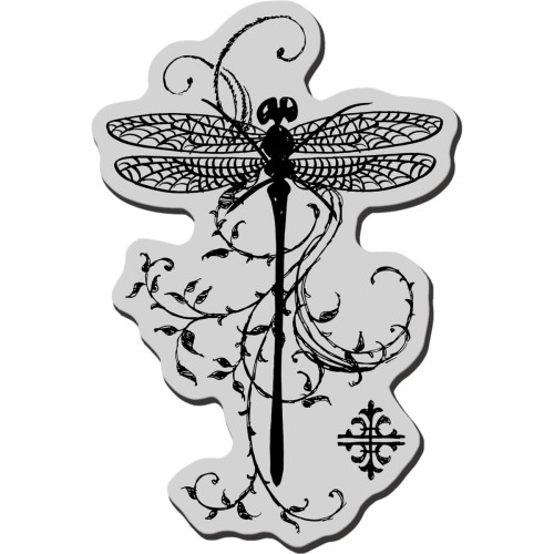 Stampendous Cling Stamp - Dragonfly Vine