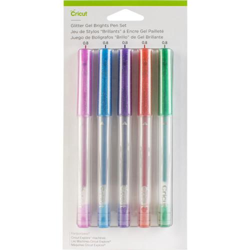 Cricut Brights Glitter Gel Pen Set 5/Pkg