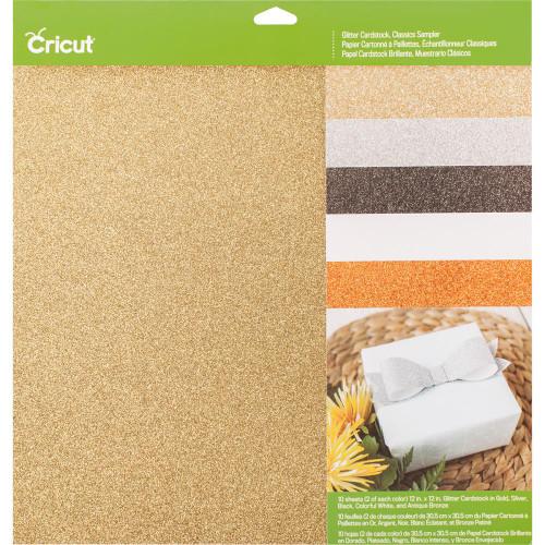 "Cricut Classics Glitter Cardstock Sampler 12""X12"" 10/Pkg"