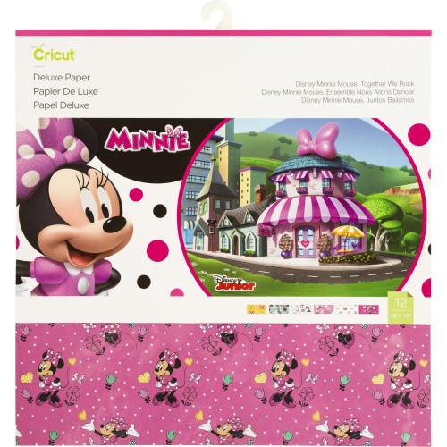 "Cricut Disney Minnie Mouse, Together We Rock 12""X12"" Deluxe Paper 12/Pkg"