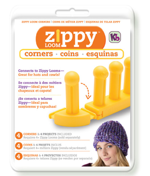 Knitting Board Zippy Loom Corners 4/Pkg