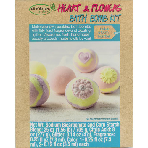 Bath Bomb Kit - Heart & Flowers