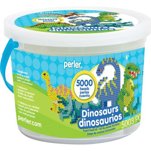 Perler Fused Bead Bucket Kit - Dinosaur