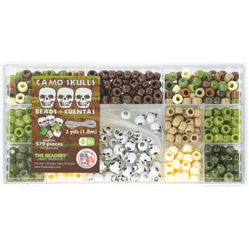 Bead Box Kit  -  Camo Skulls