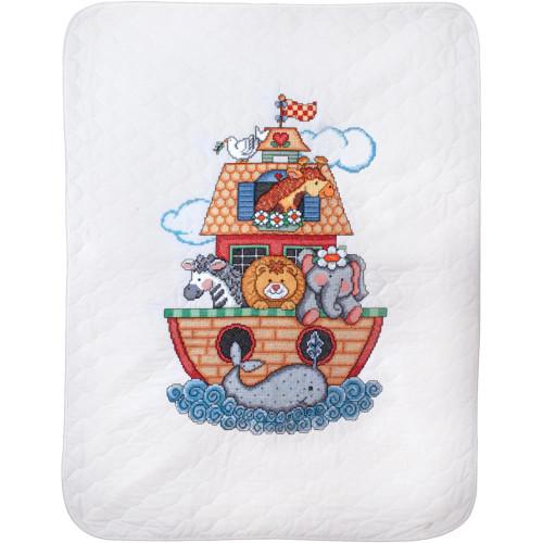 Tobin Stamped Quilt Cross Stitch Kit - Noah's Ark