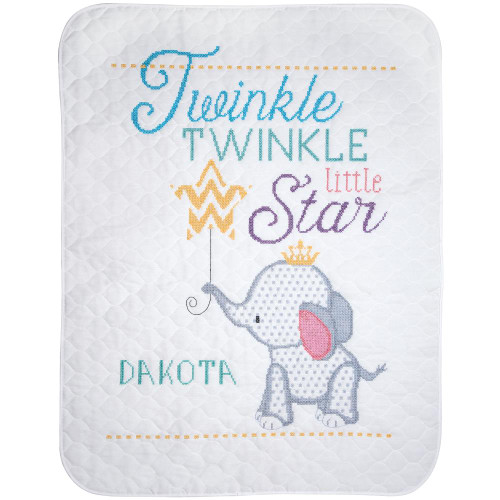 Stamped Quilt Cross Stitch Kit - Twinkle Twinkle Little Star