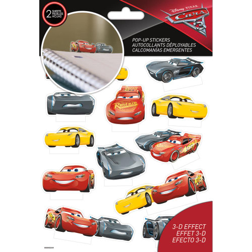 Disney Pop-Up Stickers -  Cars 3