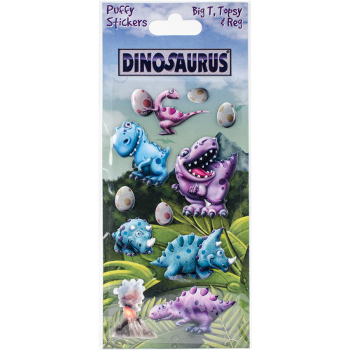 Dinosaurus Puffy Stickers - Big T