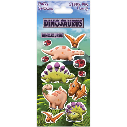 Dinosaurus Puffy Stickers - Steggy